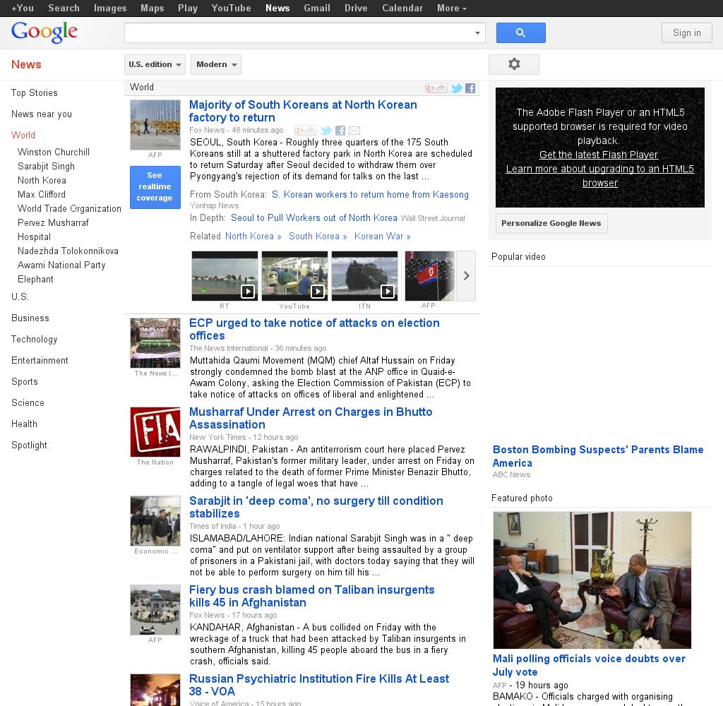 Google News: World